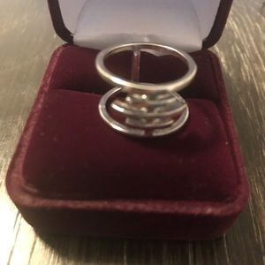Jewelry - Free people Silver double band ring. Size 5.5/6